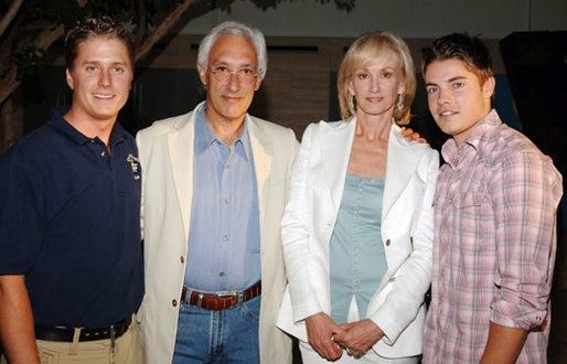 "Clint Mabry, Steven Bochco, Dayna Bochco and Josh Henderson - ""Over There"" screening, July 2005"