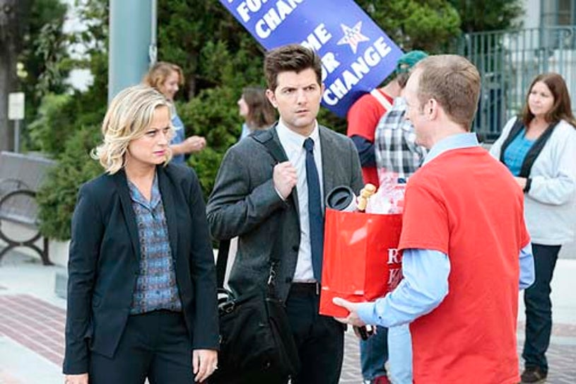"""Parks and Recreation - Season 6 - """"Gin It Up"""" - Amy Poehler and Adam Scott"""