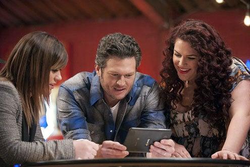 The Voice - Season 2 - Kelly Clarkson, Blake Shelton and Erin Willet