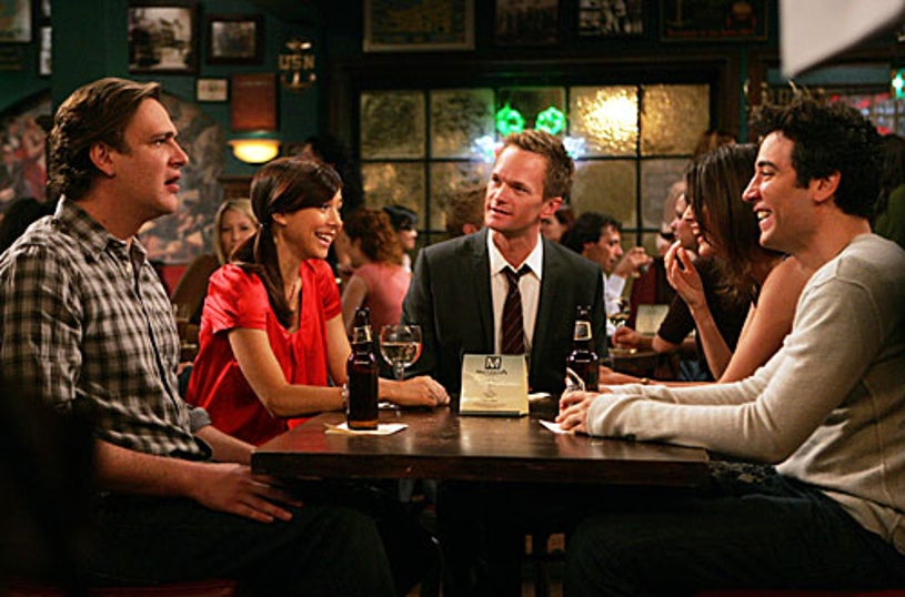 """How I Met Your Mother - Season 4, """"The Naked Man"""" - Jason Segel as Marshall, Alyson Hannigan as Lily, Neil Patrick Harris as Barney, Cobie Smulders as Robin, Josh Radnor as Ted"""
