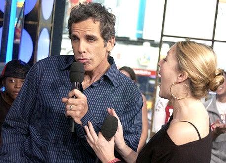 """Ben Stiller and Drew Barrymore -  MTV's """"TRL"""" in New York City, September 19, 2003"""