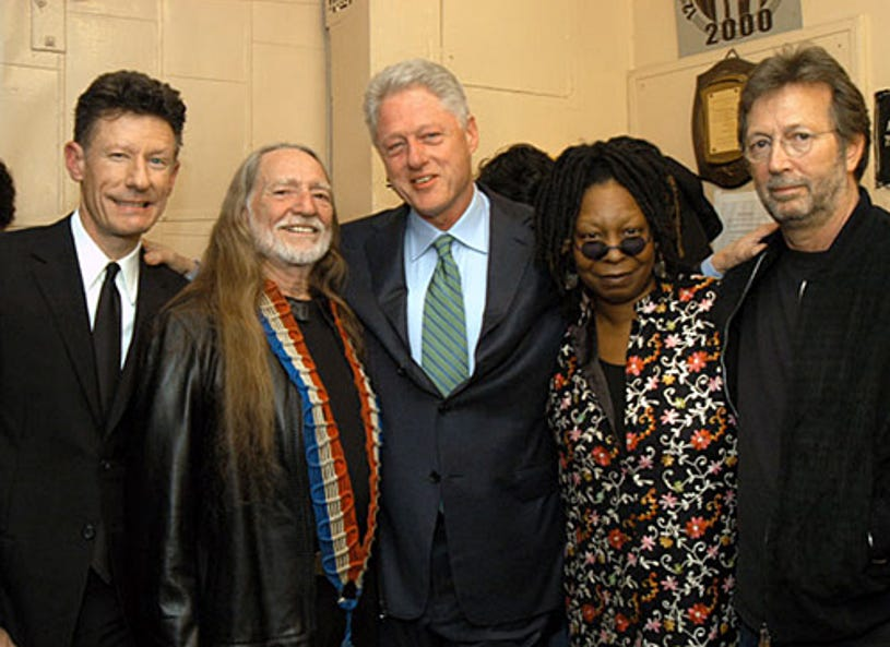"""Lyle Lovett, Willie Nelson, former President Bill Clinton, Whoopi Goldberg and Eric Clapton - """"Willie Nelson and Friends: Live and Kickin"""" -  Beacon Theatre - New York City, NY - May 26, 2003"""