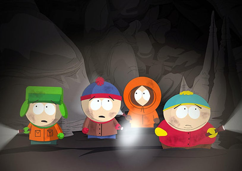 """South Park - """"Manbearpig"""" - Kyle, Stan, Kenny and Cartman"""
