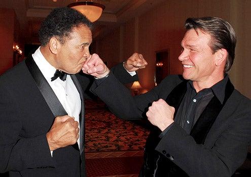 Muhammad Ali and Patrick Swayze - Muhammad Ali's Celebrity Fight Night XII, March 18, 2006