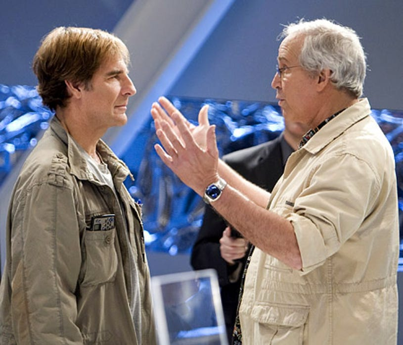 "Chuck - Season 2 - ""Chuck vs. the Dream Job"" - Scott Bakula as Steve Bartowski and Chevy Chase as Ted Roark"