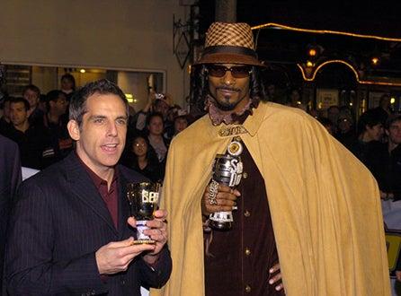 "Ben Stiller and Snoop Dogg - ""Starsky & Hutch"" premiere, Feb. 2004"