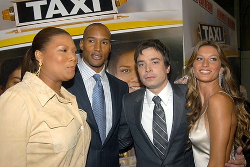 """Queen Latifah, Henry Simmons, Jimmy Fallon and Gisele Bundchen - The """"Taxi"""" New York Premiere, October 3, 2004"""