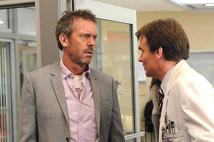 """House - Season 7 - """"You Must Remember This"""" - Hugh Laurie as House and Robert Sean Leonard as Wilson"""