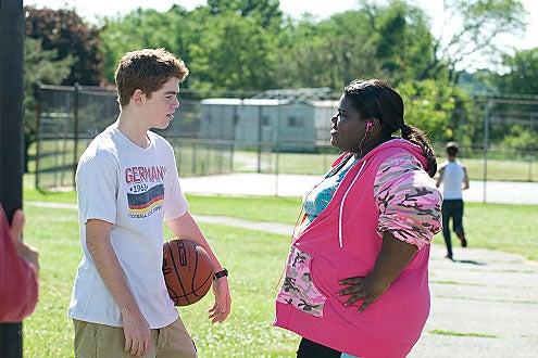 "The Big C - Season 1 - ""Blue-Eyed Iris"" - Gabriel Basso as Adam and Gabourey Sidibe as Andrea"