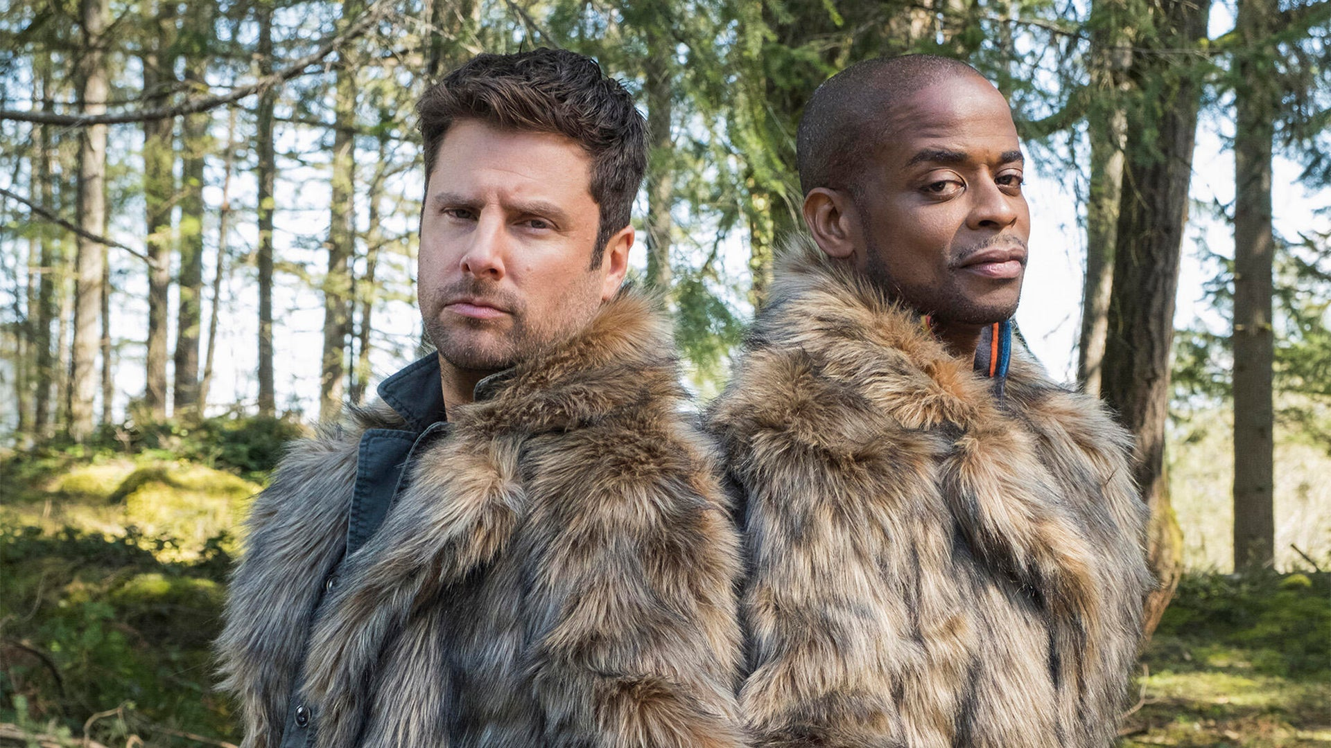 James Roday and Dule Hill, Psych 2: Lassie Come Home