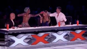 America's Got Talent: Mel B. Throws Water in Simon Cowell's Face After Crude Joke
