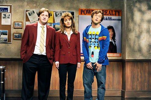 "Saturday Night Live - Season 38 - ""Joseph Gordon Levitt"" - Tim Robinson, Nasim Pedrad and Joseph Gordon-Levitt"