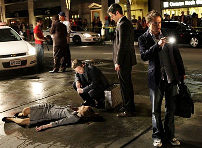 "CSI: NY - Season 5, ""Sex, Lies and Silicone"" - Gary Sinise as Mac, Eddie Cahill as Don, Carmine Giovinazzo as Danny"