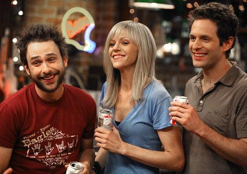 "It's Always Sunny in Philadelphia - Season 5 - ""The Gang Gives Frank an Intervention"" - Charlie Day as Charlie, Kaitlin Olson as Dee and Glenn Howerton as Dennis"