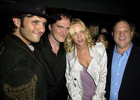 """Robert Rodriguez, Quentin Tarantino, Uma Thurman and Harvey Weinstein - """"Kill Bill Vol. 2"""" World Premiere - 2004"""