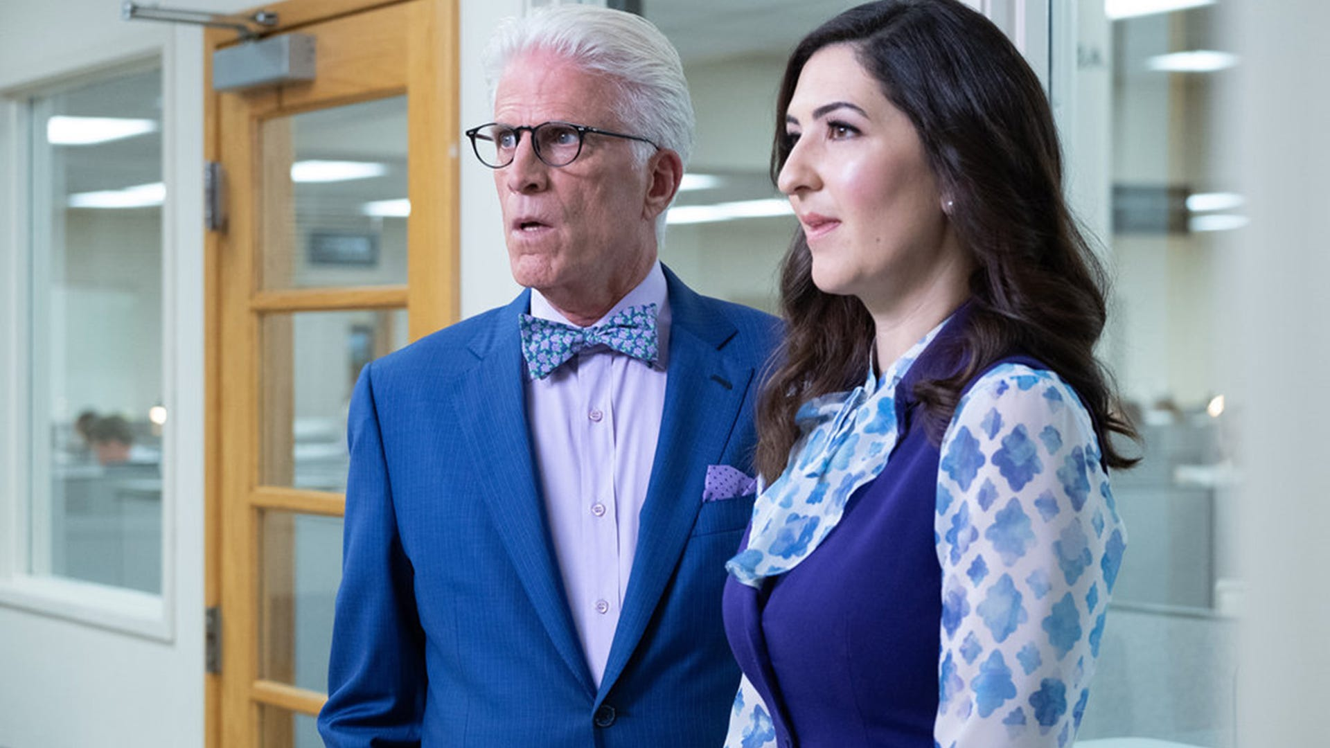 Ted Danson and D'Arcy Carden, The Good Place