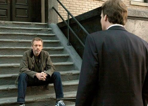"""House - Season 8 - """"Swan Song/Everybody Dies"""" - Hugh Laurie and Robert Sean Leonard"""