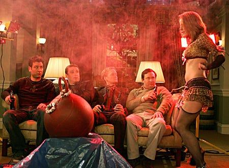 "How I Met Your Mother - ""Bachelor Party"" - Josh Radnor, Jason Segel, Neil Patrick Harris, Matt Boren, Jamie Rose Hagan"