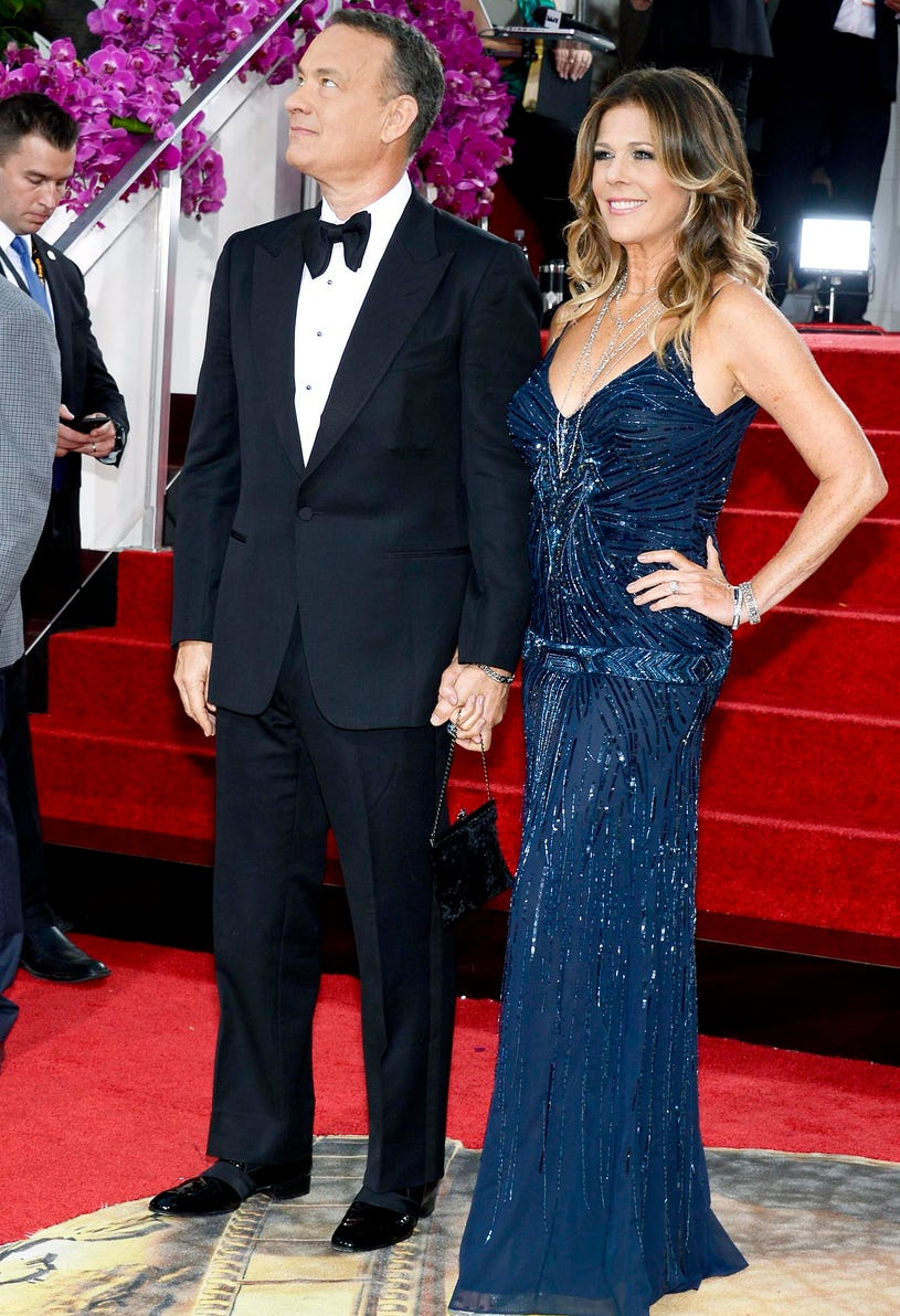 Tom Hanks and Rita Wilson - 71st Annual Golden Globe Awards in Beverly Hills, California, January 12, 2013