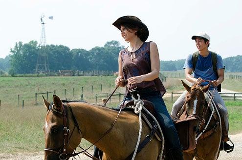 "The Walking Dead - Season 2 - ""Cherokee Rose"" - Lauren Cohan and Steven Yeun"