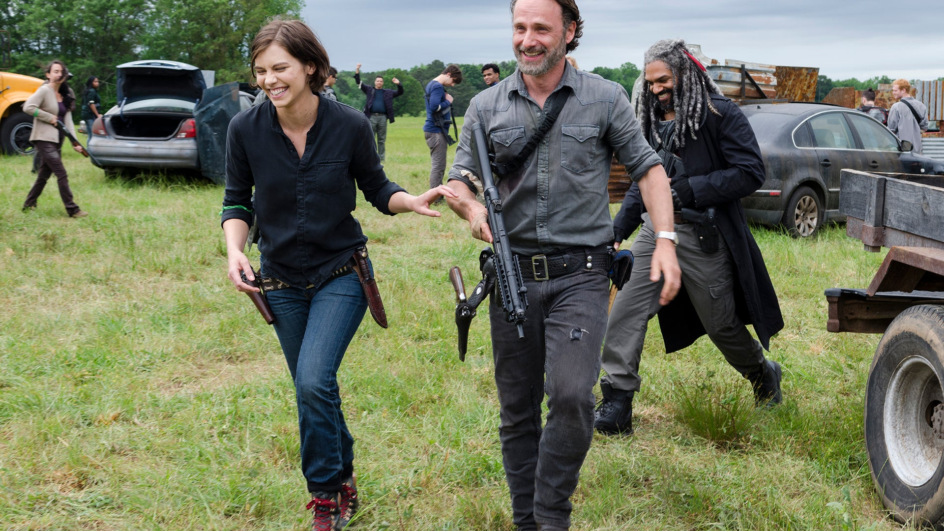 Lauren Cohan and Andrew Lincoln, The Walking Dead