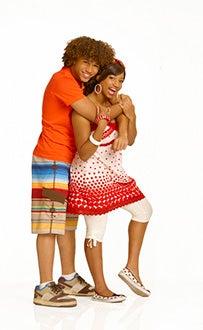 High School Musical 2 - Corbin Bleu as Chad Danforth and Monique Coleman as Taylor McKessie.