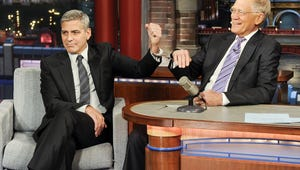 George Clooney Handcuffs David Letterman to Get Him to Stay