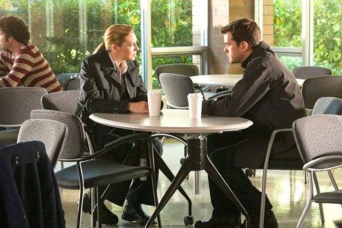 "Fringe - Season 3 - ""Marionette"" - Anna Torv and Joshua Jackson"