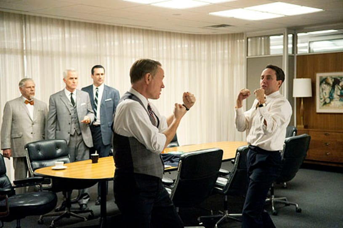 "Mad Men - Season 5 - ""Signal 30"" - Robert Morse, John Slattery, Jon Hamm, Jared Harris and Vincent Kartheiser"