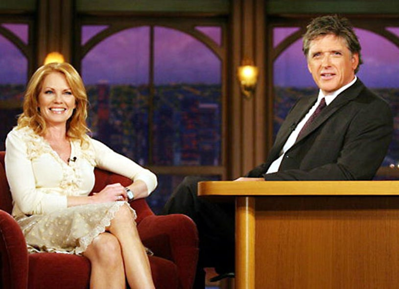 """Marg Helgenberger - """"The Late Late Show with Craig Ferguson"""" - Marg Helgenberger and host Craig Ferguson - Los Angeles, CA - Sept. 26, 2007"""