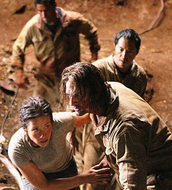 "Lost - Season 6 - ""LA X (Parts I and II)"" - Evangeline Lilly, Josh Holloway, Ken Leung"