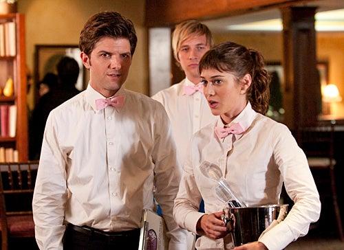 Party Down - Season 2 - Adam Scott as Henry Pollard, Ryan Hansen as Kyle Bradway, Lizzy Caplan as Casey Klein