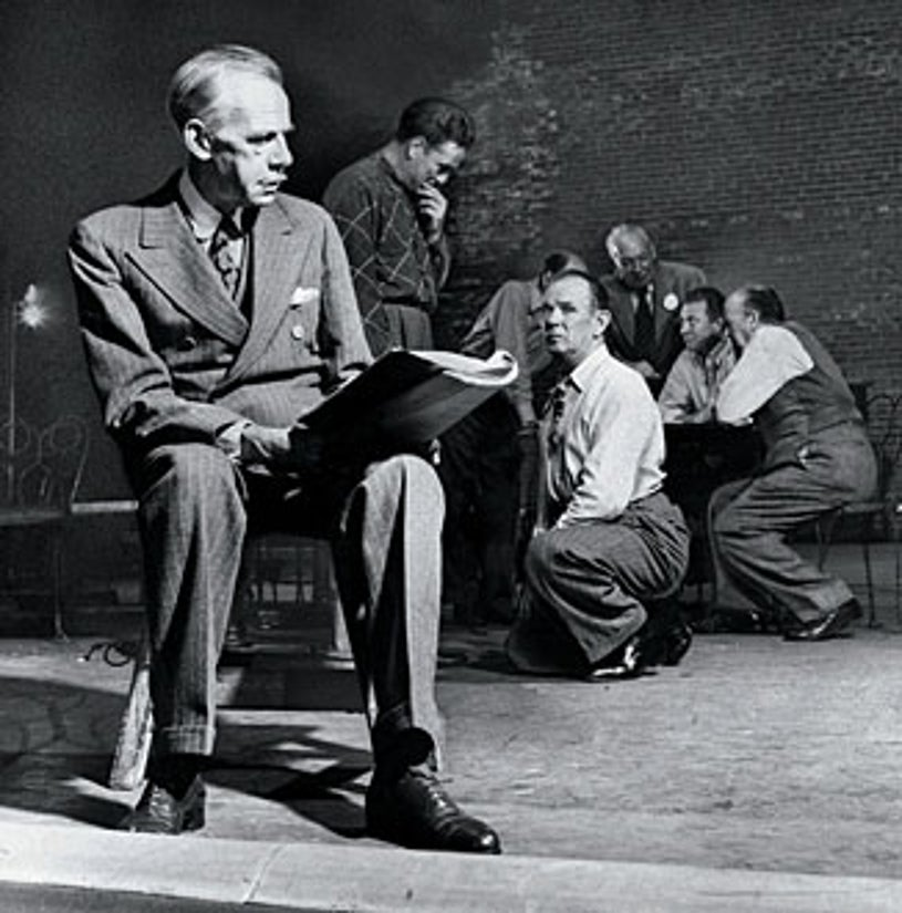 """American Experience - """"Eugene O'Neill"""" - Eugene O'Neill during rehearsals for The Iceman Cometh, 1946."""