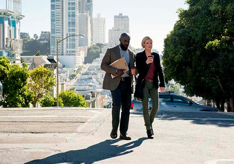"""Murder in the First - Season 1 - """"Pilot"""" - Taye Diggs and Kathleen Robertson"""