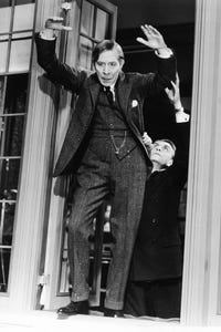 George Arliss as Prime Minister of England