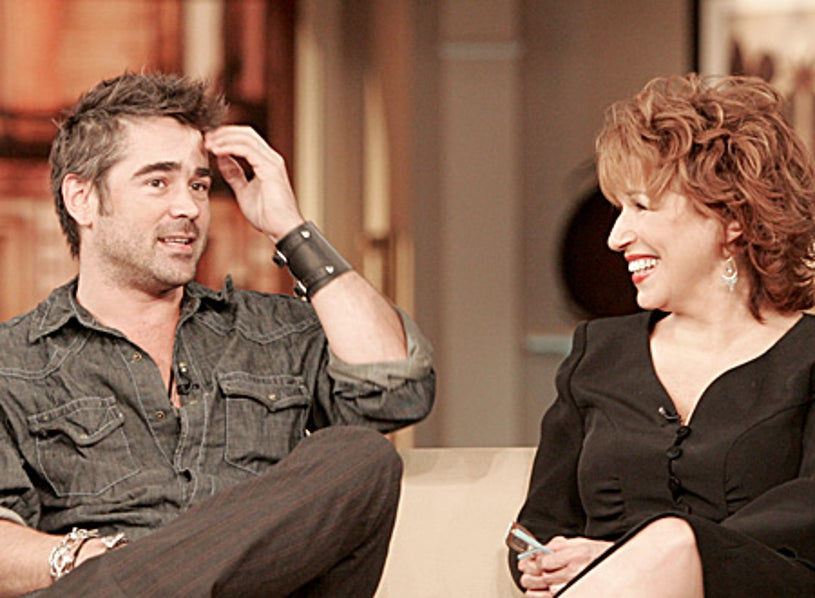 The View - Colin Farrell and Joy Behar