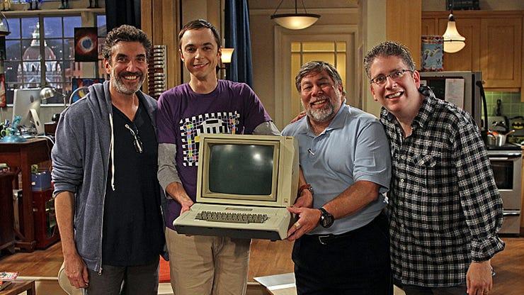 Chuck Lorre, Jim Parons, Steve Wozniak and Bill Prady, The Big Bang Theory