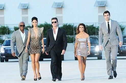 The X Factor - Season 1 - L.A. Reid, Nicole Sherzinger, Simon Cowell, Paula Abdul and Steve Jones