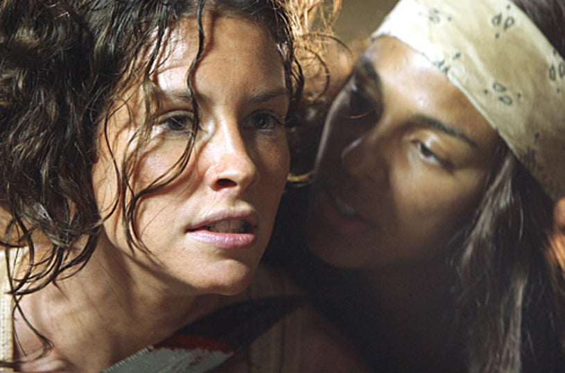 """Lost - Season 4 - """"The Beginning of the End"""" - Marsha Thomason as Naomi, Evangeline Lilly as Kate"""