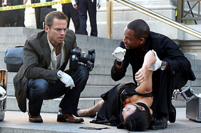 "CSI: NY - Season 4, ""Commuted Sentences"" - Carmine Giovinazzo as Danny, Hill Harper as Dr. Sheldon Hawkes"