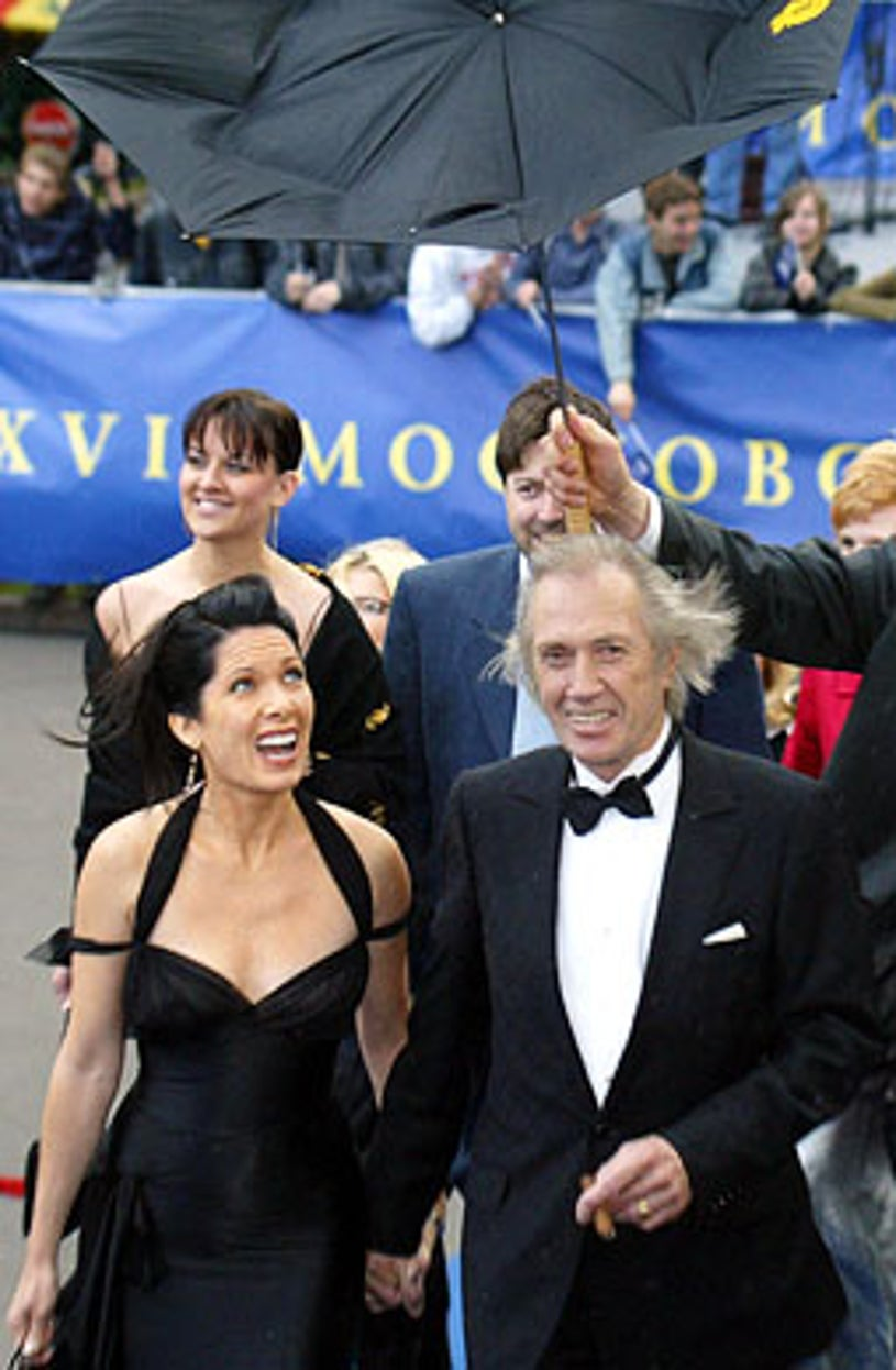 arrive at the opening ceremony of the XXVI Moscow International Film Festival, Moscow, June 18, 2004
