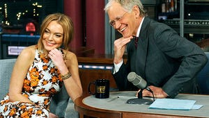 """David Letterman to Lindsay Lohan on Late Show: """"Do You Have Addiction Problems?"""""""
