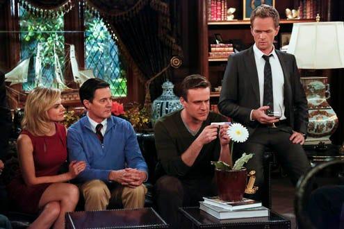 "How I Met Your Mother - Season 9 - ""Daisy"" - Laura Bell Bundy as Becky, Kyle MacLachlan as The Captain, Jason Segel as Marshall, Neil Patrick Harris as Barney"