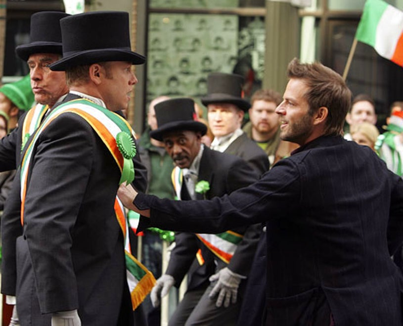 """CSI: New York - Season 6 - """"Pot of Gold"""" - Guest star Ian Ziering and Carmine Giovinazzo as Danny Messer"""