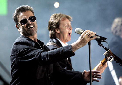 "George Michael, Paul McCartney - ""Live 8 London"" in Hyde Park - July 2, 2005"