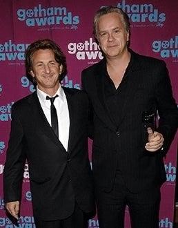 Sean Penn with Tim Robbins - IFP's 16th Annual Gotham Awards in New York City, November 29, 2006