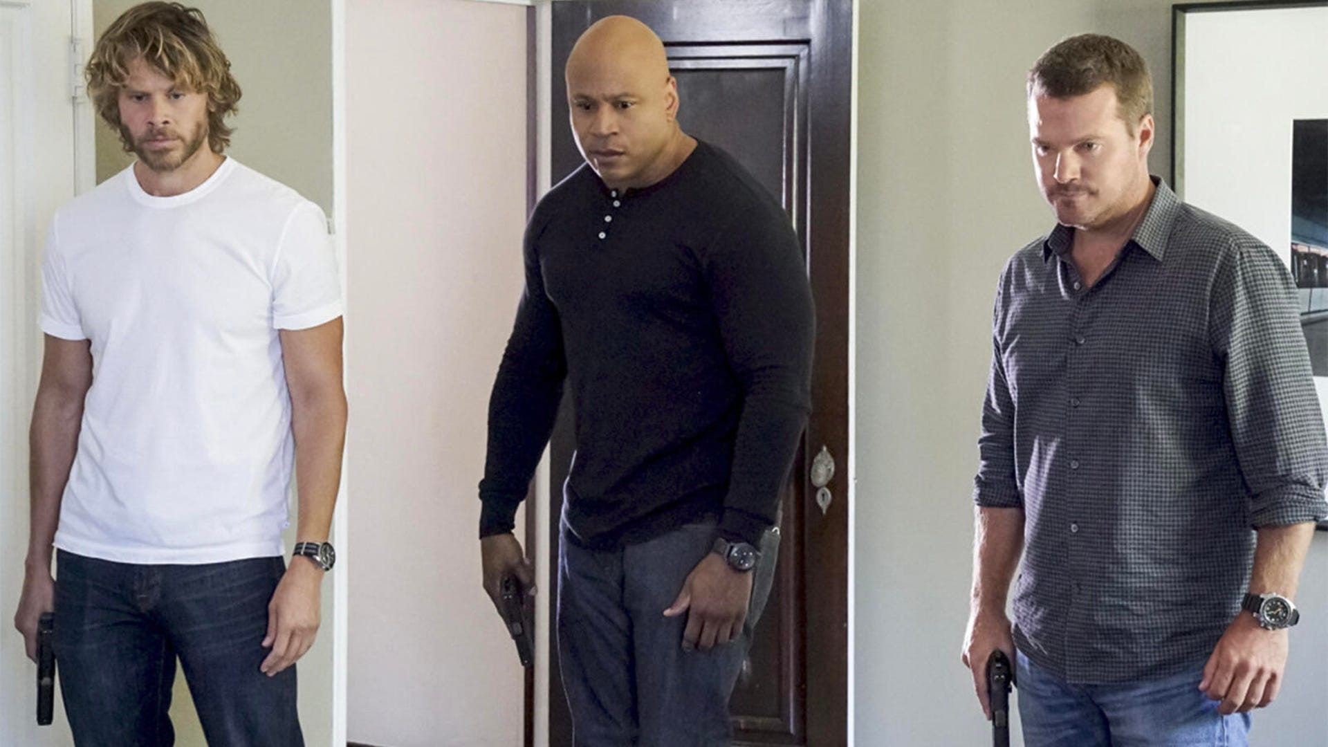 Eric Olsen, LL Cool J, and Chris O'Donnell, NCIS: Los Angeles