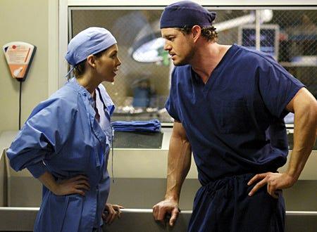 "Grey's Anatomy - ""Desire"" - Ellen Pompeo as Meredith, Eric Dane as Mark Sloan"