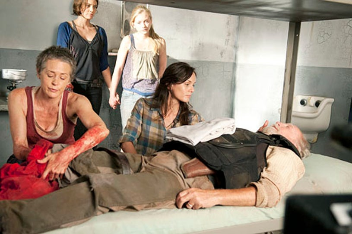 "The Walking Dead - Season 3 - ""Sick"" - Melissa Suzane McBride, Lauren Cohan, Emily Kinney and Sarah Wayne Callies"