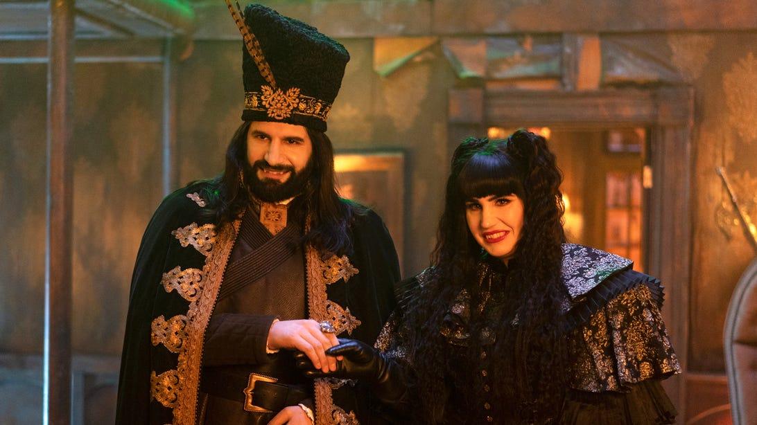 Kayvan Novak and Natasia Demetriou, What We Do in the Shadows
